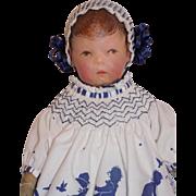 "Antique 18"" German Kathe Kruse Series #1 Wide Hip Doll"