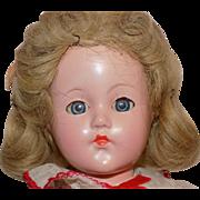 Vintage Effanbee Little Lady Anne Shirley Doll All Original