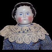 Antique German Hertel & Schwab China Head Doll Bisque Arms and Legs