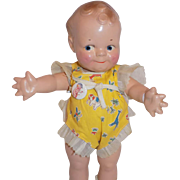 Vintage Rose O'Neill Composition Kewpie Scootles Doll Tagged All Original