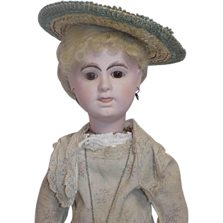 Antique Limoges Lanternier French Fashion Lady Doll Rare Character