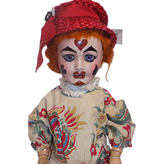 Antique French Limoges Favorite Doll Clown Depose