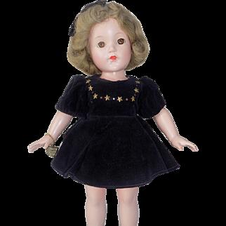 All Original Effanbee Little Lady Anne Shirley Composition Doll Velvet Dress