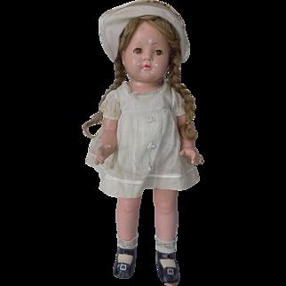 "Vintage  Madame Alexander 17"" Dionne Marked Doll All Original McGuffey Anna Princess Elizabeth Quintuplets"