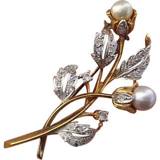 Gorgeous Signed Alice Caviness Floral Vintage Brooch