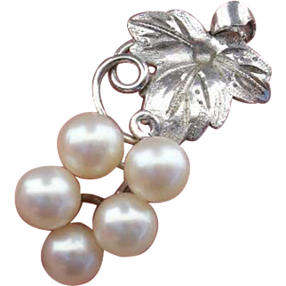 Grapes Akoya Cultured Pearls & Sterling Vintage Pendant