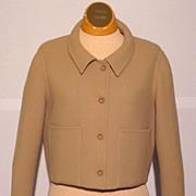 Vintage 1970s Geoffrey Beene Tan Wool Jacket