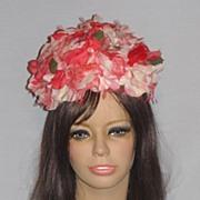 Vintage 1960s Schiaparelli Floral Bubble Toque Hat