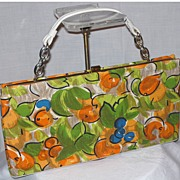 ON LAYAWAY Vintage 1960s L & M Bright Print Handbag by Edwards