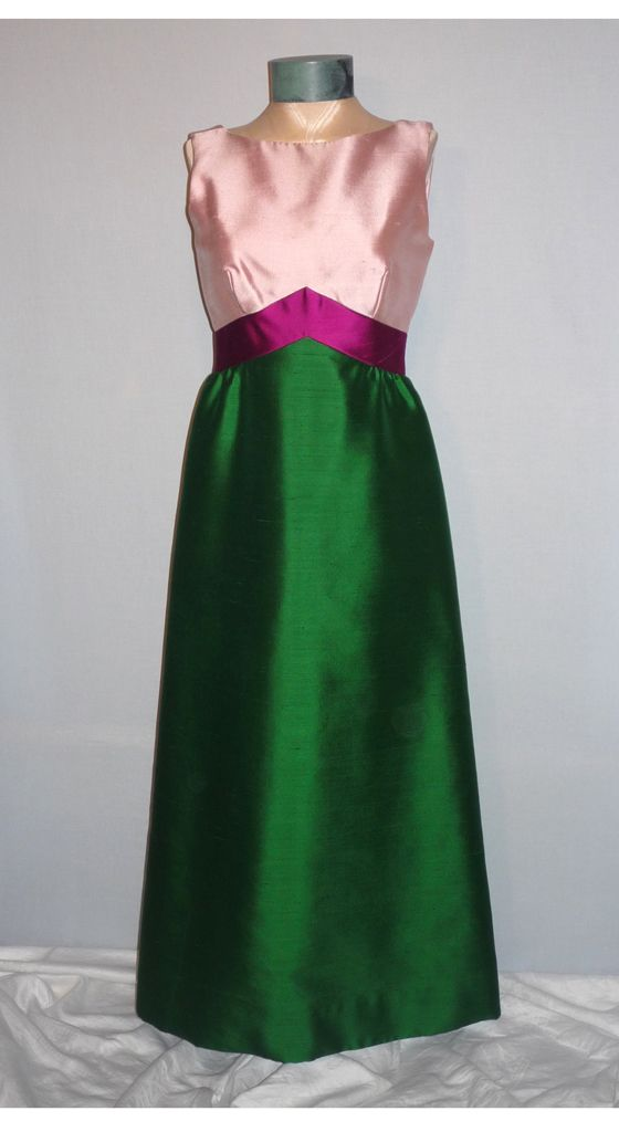 1960s Elegant Custom Made Formal Evening Gown