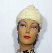 Vintage Late 1950s Early 1960s Lilly Dache Curly Lamb Hat