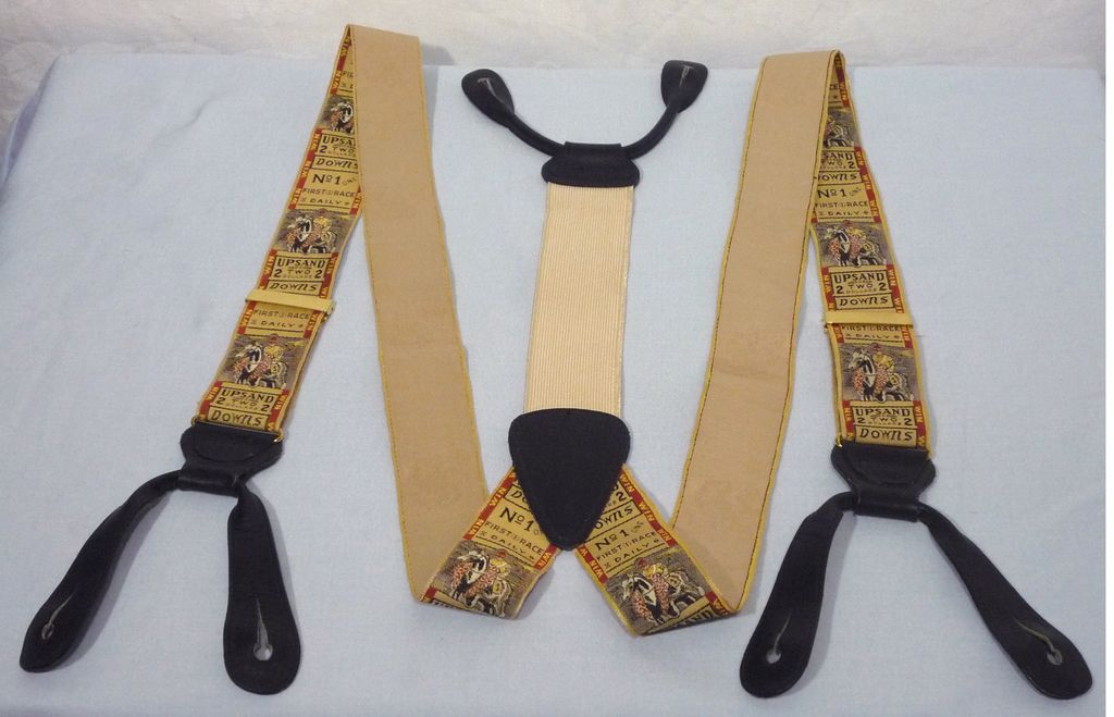 Trafalgar Limited Edition Horse Race Ticket Suspenders/Braces