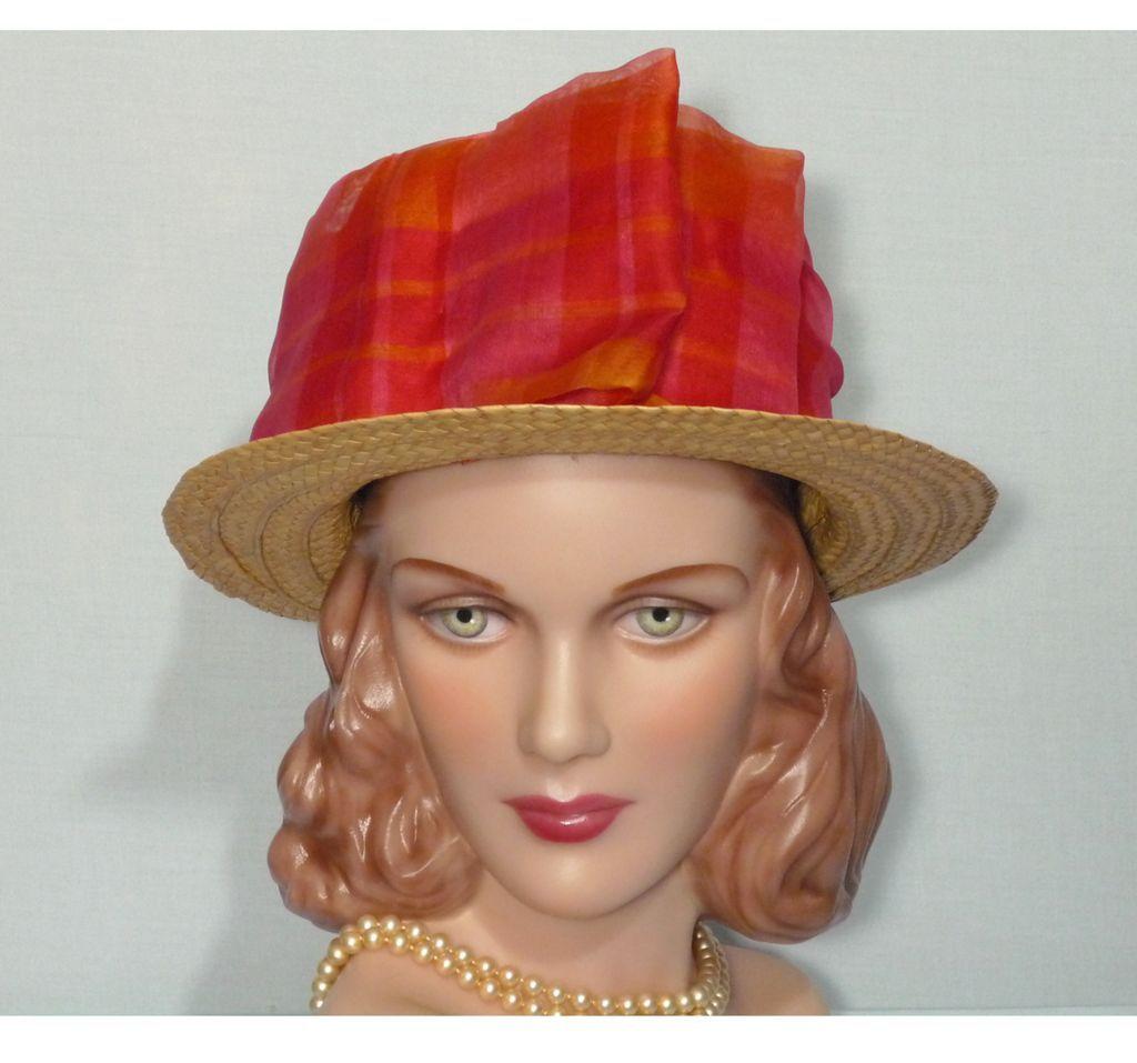 Vintage 1970s  Sonya of Waikiki Straw Hat