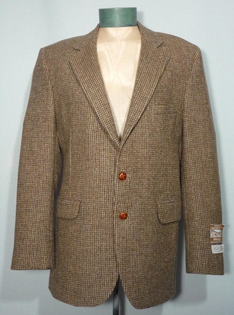 Vintage 1970s Coat Tails Milnburn Tweed Sport Coat