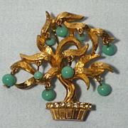 Vintage 1960s Pauline Rader Tree of Life Brooch