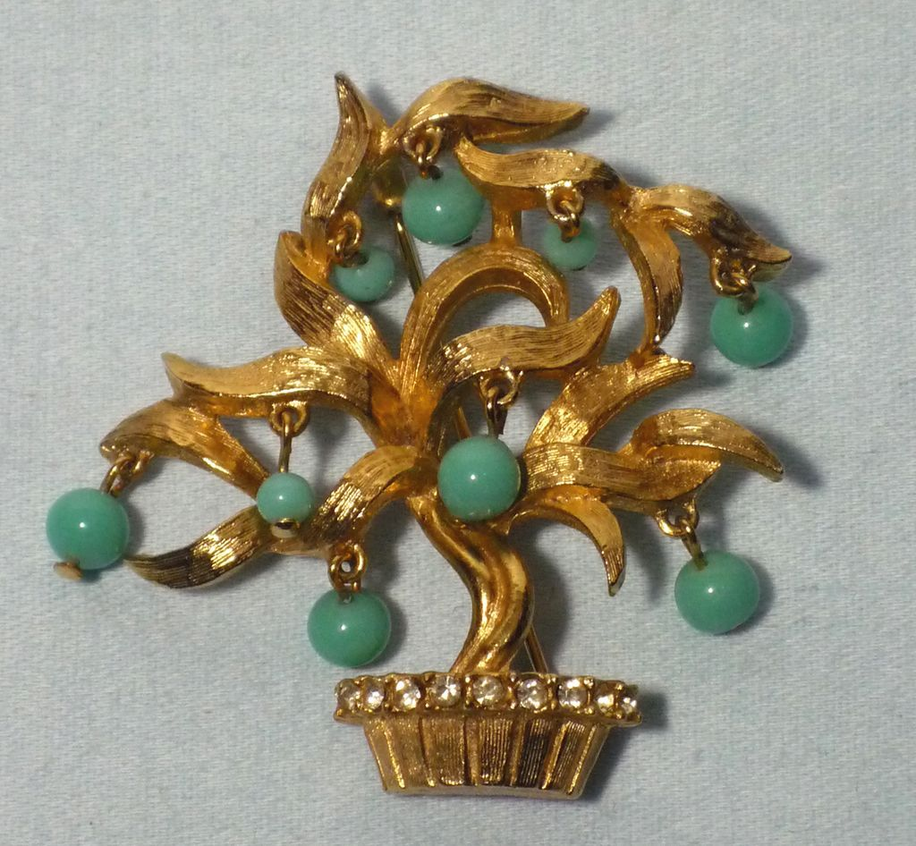 Vintage 1960s Pauline Rader Tree of Life Brooch