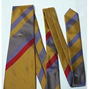 Vintage Lanvin Bluebirds Nest Silk Tie Made In Italy