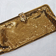 Vintage 1950s Bond Street Ltd Gold Tone Mesh Evening Purse Made in West Germany