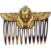 Vintage 1970s Miriam Haskell Egyptian Pharaoh Hair Comb
