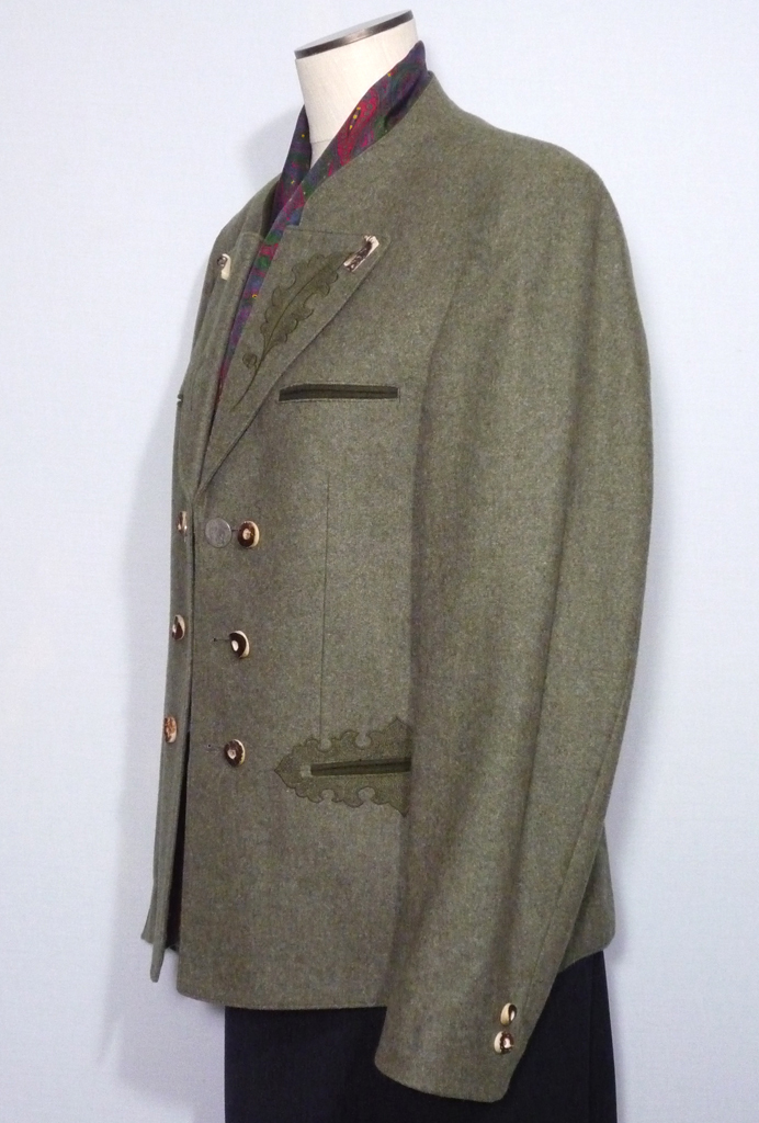 Vintage 1980s Tyrolean Bavarian Green Wool Hunting Jacket Trachten ...