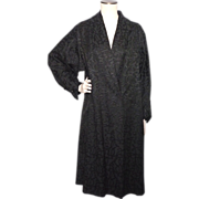Vintage 1950s Lady Lucy Black Evening Swing Coat