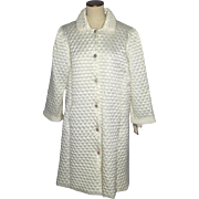 Vintage 1970s Christian Dior Quilted Robe Saks Fifth Avenue Dead Stock