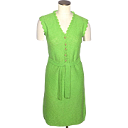 Vintage 1960s St John Knits Apple Green Dress