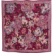 ON LAYAWAY Vintage Harrods Jane Shilton Floral and Paisley Silk Scarf