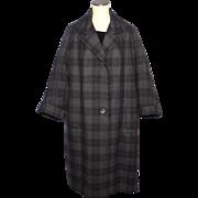 Vintage 1950s Aquascutum Wool Tweed Coat Tailored for Harrods London