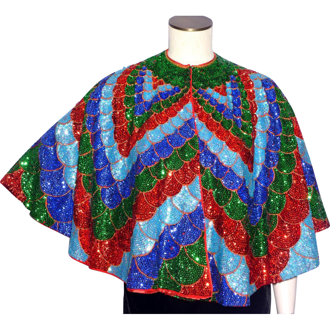 Vintage 1970s Sequined Cape Disco Era Over The Top : My ...