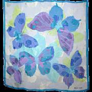 Vintage Hanae Mori Butterfly Silk Scarf