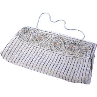 Vintage 1960s Beaded Evening Bag