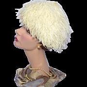 Vintage 1950s Ostrich Feather Cocktail Hat