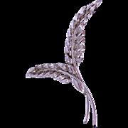 Vintage 1960s Danecraft Sterling Leaf Brooch