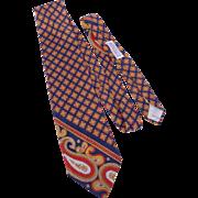 Vintage Yves Saint Laurent Silk Print Tie Originally Sold at Woodward & Lothrop