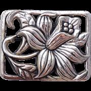 Vintage 1950s Danecraft Sterling Silver Jonquil Brooch