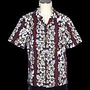 Vintage 1980s Hawaiian Tiki Print Shirt Aloha Republic Made in Hawaii