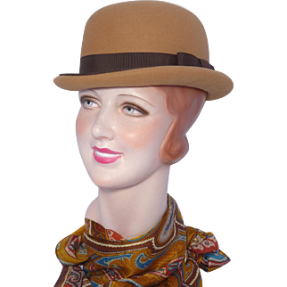 Vintage 1960s Betmar Bowler Derby Style Wool Felt Hat