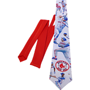 Vintage Ralph Marlin Boston Red Sox Necktie Officially Licensed Major League Baseball