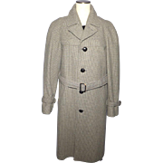 Vintage 1950s-60s Pendleton Mens Wool Trench Style Coat