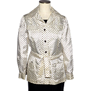 Vintage 1960s Joan Leslie By Kasper Polka Dot Jacket