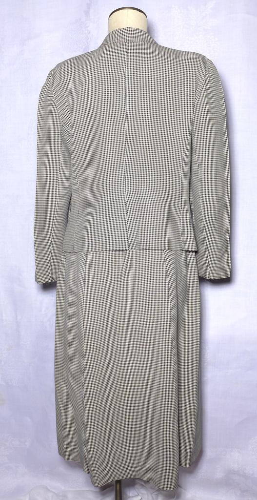 Vintage 1940S 50S Jane Andrea Suit 2 Pc in bianco e nero-8330