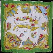 Vintage 1950s  Silk Souvenir of California Scarf