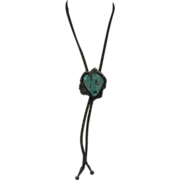 Native American Turquoise & Sterling Bolo