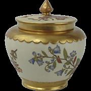 "Royal Worcester ""Blush Ivory"" 3 Piece Potpourri  C1880"