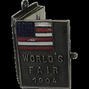 Antique Miniature 1904 St Louis Worlds Fair Photo Album Souvenir Charm
