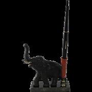 Hubley Cast Iron Elephant Bakelite Fountain Pen Holder Paperweight