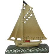 Vantage Cast Iron Sale Boat Paperweight