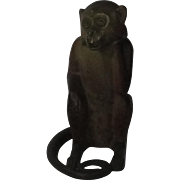 Hubley Cast Iron Monkey Doorstop