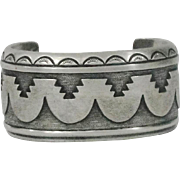 Native American Sterling Silver Cuff Bracelet By Thomas Singer